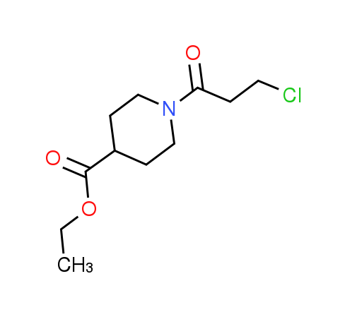 Ethyl 1-(3-chloropropanoyl)piperidine-4-carboxylate