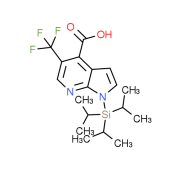 5-(Trifluoromethyl)-1-(triisopropylsilyl)-1H-pyrrolo[2,3-b]pyridine-4-carboxylic acid