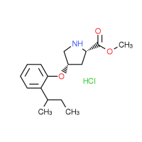 Methyl (2S,4S)-4-[2-(sec-butyl)phenoxy]-2-pyrrolidinecarboxylate hydrochloride